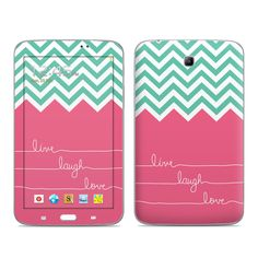 Samsung Galaxy Tab 3 7in Skin - Live Laugh Love by Brooke Boothe | DecalGirl