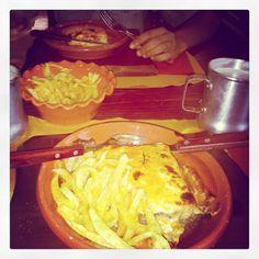 Portuguese best food!! Francesinha and beer.