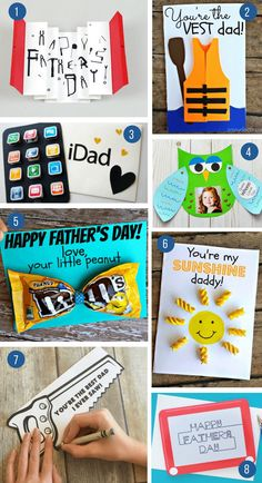 100 Incredible DIY Father's Day Gift Ideas From Kids - what moms love Kids Fathers Day Gifts, Easy Father's Day Gifts, Easy Fathers Day Craft, Homemade Fathers Day Gifts, Diy Gifts For Dad, Happy Fathers Day, Daddy Gifts, Mother Gifts, Diy Father's Day Cards