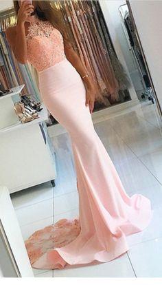 Open Back Prom Dresses, Prom Dresses For Cheap, Prom Dresses Lace, Pink Prom Dresses, Mermaid Prom Dresses Prom Dresses 2019 Mermaid Prom Dresses Lace, Prom Dresses For Teens, Pink Prom Dresses, Backless Prom Dresses, Cheap Prom Dresses, Sexy Dresses, Dress Lace, Lace Mermaid, Satin Dresses