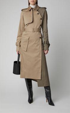 Cotton-Blend Utility Trench Coat by ROKH Now Available on Moda Operandi Trench Coat Outfit, Coat Dress, Trench Coats, Winter Coats Women, Coats For Women, Fashion Models, Fashion Coat, Iranian Women Fashion, Stylish Coat