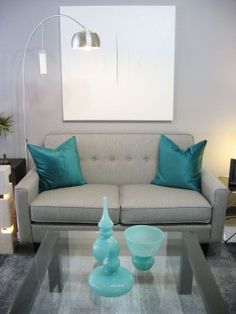 Sofa gris rétro - Retro grey loveseat