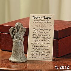 Worry Angels With Prayer Card, Decorative Accessories, Home Decor - Terry's Village Holiday Decor