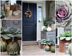 Decorating the Front Door for Fall
