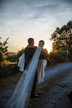 Off into the sunset 🌄 📷 by @weddingsbyjohnbeasley