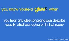 and whoever im talking to is like 'you need a life. ive heard you say this so much that i remember what happened and i dont even watch glee'
