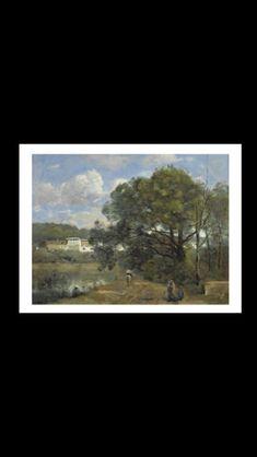 Jean-Baptiste Camille Corot - Ville d'Avray, route descendant des bois vers la propriété de Corot et longeant l'étang, 1873 - Huile sur toile - 50 x 65,3 cm