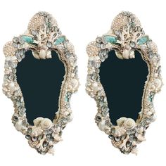 xx...tracy porter..poetic wanderlust..-1stdibs.com | Pair of Venetian Style Shell and Coral Mirrors