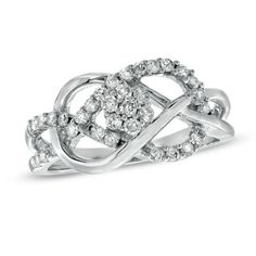 LOVE this...  would be awesome anniversary ring...  1/2 CT. T.W. Diamond Infinity Ring in 10K White Gold - Zales