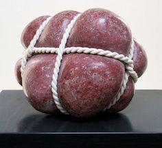 Peter Brooke-Ball: Reprise Two, Indian-soapstone and rope Abstract Sculpture, Sculpture Art, Sculpture Ideas, Modern Sculpture, Small Sculptures, Stone Sculptures, Plastic Art, Soapstone, American Artists
