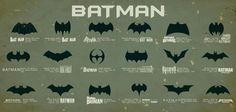 La evolución del símbolo de Batman, ¡curioso!
