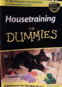 Housetraining For Dummies by Susan McCullough $7.98 Free Shipping
