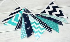 Bunting Banner Photography Prop Fabric Flags by thespottedbarn, $32.50