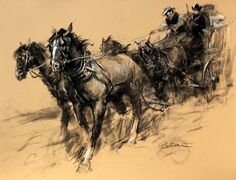 Charles M Russell - stagecoach