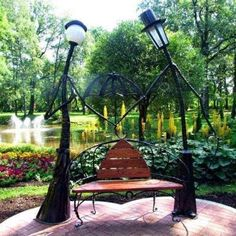 Garden Lamp - Beautiful Accent For Your Exterior - Home Decor Outdoor Art, Outdoor Gardens, Outdoor Living, Outdoor Decor, Street Furniture, Garden Furniture, Furniture Ideas, Garden Lamps, Best Interior Design