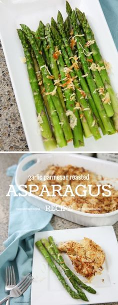 Recipes | Vegetables Recipes | This Garlic Parmesan Roasted Asparagus Recipe Side Dish is a perfect addition to any meal.