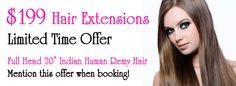 $199 Hair Extensions @ Hot Stuff Beauty in Brisbane! Limited Time Offer! #hair #hairextensions #beauty #brisbane. www.hotstuffbeauty.com.au. REPIN!