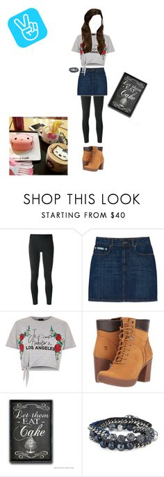 """First v live show:  eating hello kitty cafe"" by lkstar ❤ liked on Polyvore featuring Y-3, River Island, Timberland, Chloe + Isabel, eating, coming, Tasty and vlive"