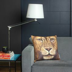 My design inspiration: Lion Warrior 18x18 Pillow on Fab.
