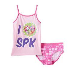 "Girls 4-10 Shopkins ""I Love Spk"" Camisole & Panty Set, Girl's, Size:"