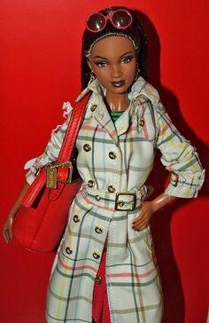 Uhura Barbie Wearing Coach Fashion