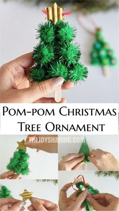 Easy Christmas ornaments for preschoolers to make. Get the simple step-by-step instructions to make this lovely Christmas ornament.  #thejoyofsharing #preschoolcrafts #kidscrafts #christmascrafts #christmastree #diychristmasornaments via @4joyofsharing