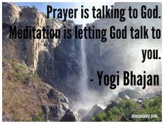 Inspired Yogi Bhajan quote in Yosemite.