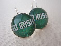 Notre Dame Fighting Irish Girl Earrings. $10.00, via Etsy.