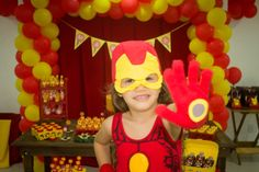 a little girl asked for an iron man birthday party from her parents, and it was…