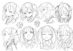 Learn To Draw Faces - Drawing On Demand Anime Faces Expressions, Drawing Expressions, Anime Drawings Sketches, Anime Sketch, Manga Art, Manga Anime, Manga Drawing Tutorials, Estilo Anime, Drawing Reference Poses
