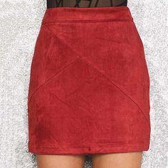 Luanne Suede Mini Skirt - Shop Elettra - 7