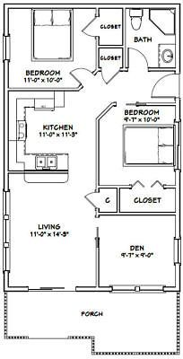Picture 2 Of 5 Two Bedroom House House Plans Tiny House Plans