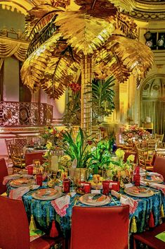 Eddie Ross Orchid Dinner table with ATGStores.com via Quinessence