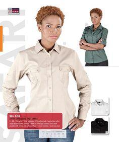 US Basic - Safari Long Sleeve Shirt - LADIES Shirt Sleeves, Long Sleeve Shirts, Safari, Lady, Clothes, Outfits, Clothing, Kleding, Outfit Posts