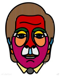 Celebrity Patterned Portraits by Craig & Karl | Minimo Graph