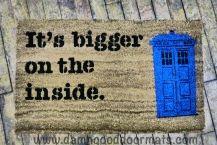 Dr Who doormat TARDIS