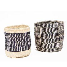 African Wool Sisal Basket - Half Hitch Goods