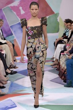 Schiaparelli Couture Fall 2016 2016 Trends, Heart Dress, Fashion News, Fashion Trends, Mixing Prints, Couture Collection, Fall 2016, Tie Dye Skirt, Autumn Fashion