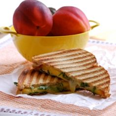 Nectarine and Cheddar grilled cheese