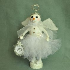 Polymer Clay Snow Angel Art Doll