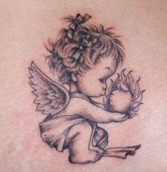 d532e9f67122e Only the best free Baby Angel Tattoos For Women tattoo's you can find  online! Baby Angel Tattoos For Women tattoo's to print off and take to your  tattoo ...