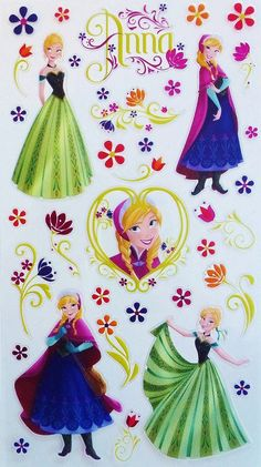 DISNEY FROZEN ANNA AND FLOWERS EK SUCCESS SCRAPBOOK STICKERS | Scrapping The Magic
