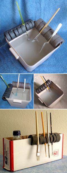 'Brush holder...!' (via Instructables.com)