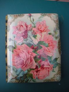 Victorian Photo Album Celluloid Roses Cover Velvet Binding Back Brass Clasp Victorian Photos, Antique Photos, Vintage Photos, Photo Album Covers, Vintage Photo Album, Photo Buttons, Scrap Books, Picture Albums, Art Floral