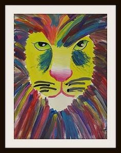 For whatever reason, I decided to do lion faces. I had planned on a more realistic approach until I saw some fabulous Leroy Neiman inspired lions on Artsoni