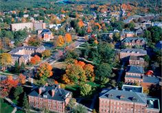 The University of New Hampshire's scenic main campus is known for its history and year-round beauty. The residential campus is located in Durham, just an hour College Campus, College Life, College Fun, Places Ive Been, Places To Go, University Of New Hampshire, James Madison University, College Search, New England Fall