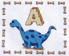 free dinosaur cross stitch patterns | dinosaur cross stitch kits