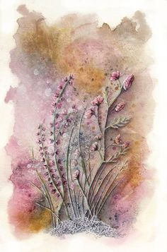 Pretty in Pink AlexS Watercolor, ink and gesso http://www.alexandraserres.com