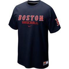 Nike Boston Red Sox Away Practice T-Shirt - Navy Blue