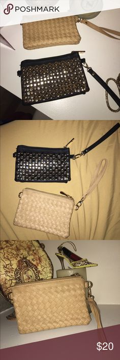 2 Wristlets! Accessorize yourself! $20 for both or I can see individually for $10! Take your pics ladies! Used them once on vacation! Bags Clutches & Wristlets